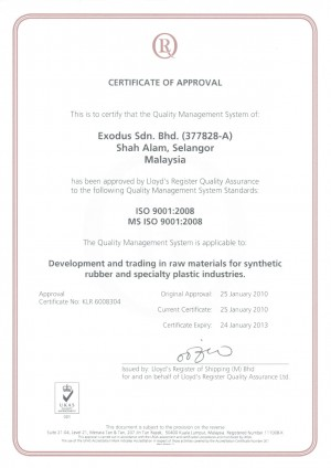 ISO 9001:2008 Certificate photo